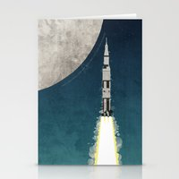 apollo Stationery Cards featuring Apollo Rocket by WyattDesign