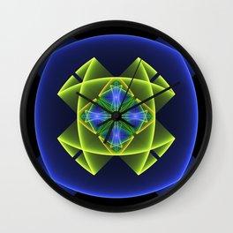 3D Graphic, Colorful Luminous Fractal Art Wall Clock