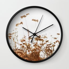 Dried Blooms 1 Wall Clock