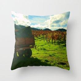Napa Wagon Throw Pillow