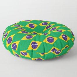flag of brazil 2-Brazil, flag, flag of brazil, brazilian, bresil, bresilien, Brasil, Rio, Sao Paulo Floor Pillow