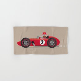 Retro Racing Car Red Hand & Bath Towel