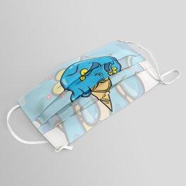 Blue Sugar Skull Ice Cream cone Face Mask