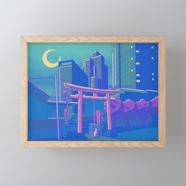 Neon Moon Framed Mini Art Print