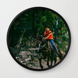Nicaraguan riding. Wall Clock