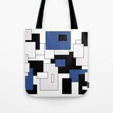 Squares - blue, gray, black and white. Tote Bag