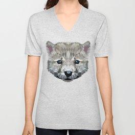 Baby wolf color blocking Unisex V-Neck