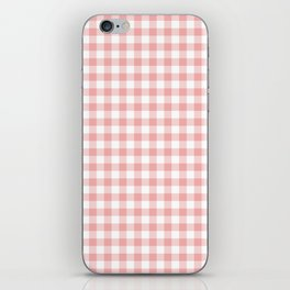 Lush Blush Pink and White Gingham Check iPhone Skin
