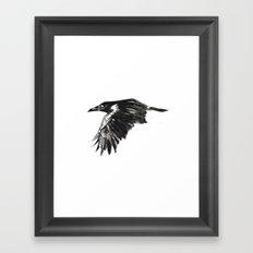 Wings Down Framed Art Print