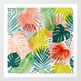 Tropical Garden #illustration #pattern Art Print