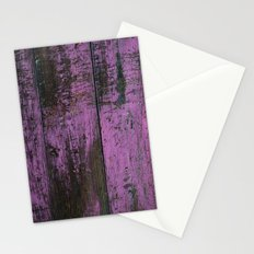 Purple Country Faux Barn Wood Stationery Cards