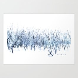Be present in this moment. Art Print