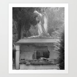 angel on the grave Art Print