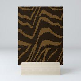 ANIMAL PRINT ZEBRA BROWN CHOCOLATE PATTERN Mini Art Print