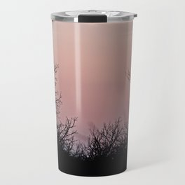 i'm up in the woods, down on my mind Travel Mug