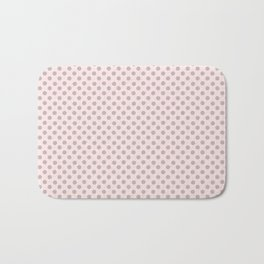 Taupe Polka Dots on Pink Bath Mat