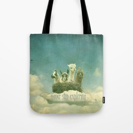 NEVER STOP EXPLORING 1 (THE CLOUDS) Tote Bag