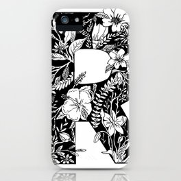 Floral Letter R iPhone Case