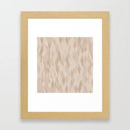 Beige Harlequin Framed Art Print