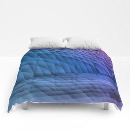 Geometric Path Blue-Pink Comforters