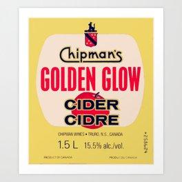 GOLDEN GLOW (Chipman's Wines: Truro, N.S., Canada) Art Print