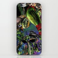 teenage mutant ninja turtles iPhone & iPod Skins featuring Teenage Mutant Ninja Turtles by artbywilliam