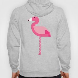 Geometric flamingo Hoody