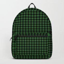 Mini Black and Dark Green Cowboy Buffalo Check Backpack