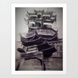 Charcoal Tradition Art Print