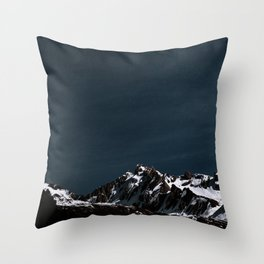 BROWN AND WHITE MOUNTAINS COVERED WITH SNOW DURING DAYTIME Throw Pillow