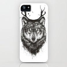 Deer wolf (b&w) Slim Case iPhone SE