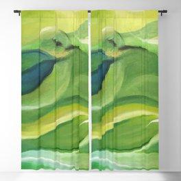 Humming Bird/Acrylic Bird Paint/ Green and Yellow Blackout Curtain