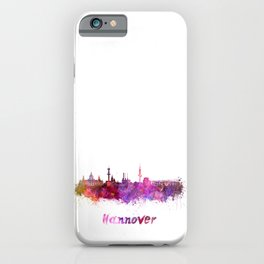 Hannover skyline in watercolor iPhone Case