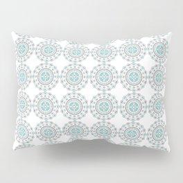 Heart Mandala – Blue Pillow Sham
