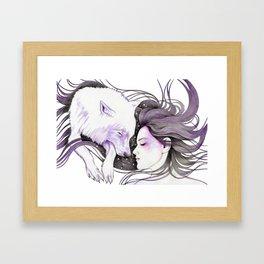 Sleep Like Woves Framed Art Print