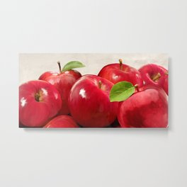 Remo Barbieri - Red Apples Metal Print