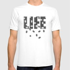 Lets Play a Game SMALL White Mens Fitted Tee