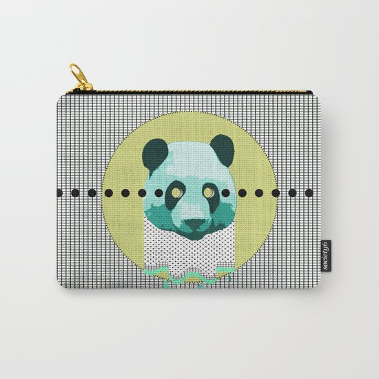 the blue panda who was melting black and white Carry-All Pouch