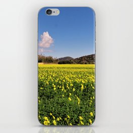 yellow flower meadow iPhone Skin