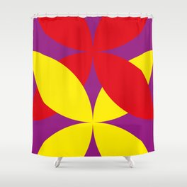Two four-leaf clovers hugging in a beautiful deep purple space. How lucky! Shower Curtain