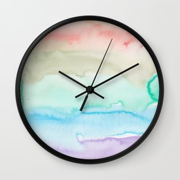 12   | Abstract Minimal Watercolor Painting | 191222 Wall Clock