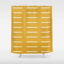 organic / yellow Shower Curtain