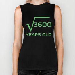 Square Root Of 3600 Funny 60 Years Old 60th Birthday Biker Tank