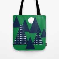 camping Tote Bags featuring Camping by pegeo