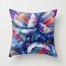 Flower Fantasy - Crocus 2 Throw Pillow