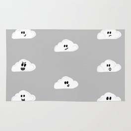 Clouds with faces Rug