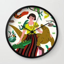 Reptile love Wall Clock