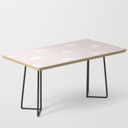 Swan pattern on pink 033 Coffee Table