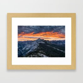 Firey Yosemite Sunrise Framed Art Print