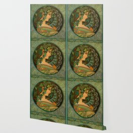 "Alphonse Mucha ""Ivy"" Wallpaper"